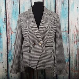 NWT Rachel Zoe Double Breasted Houndstooth Blazer